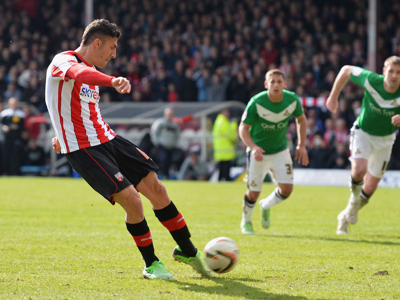 DISASTER: Marcello Trotta broke Brentford hearts with his penalty miss against Doncaster in 2013.