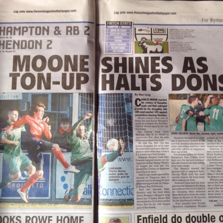 Ryman Premier Star Match - Hampton & Richmond vs Hendon - Published Sunday 8th March 2015