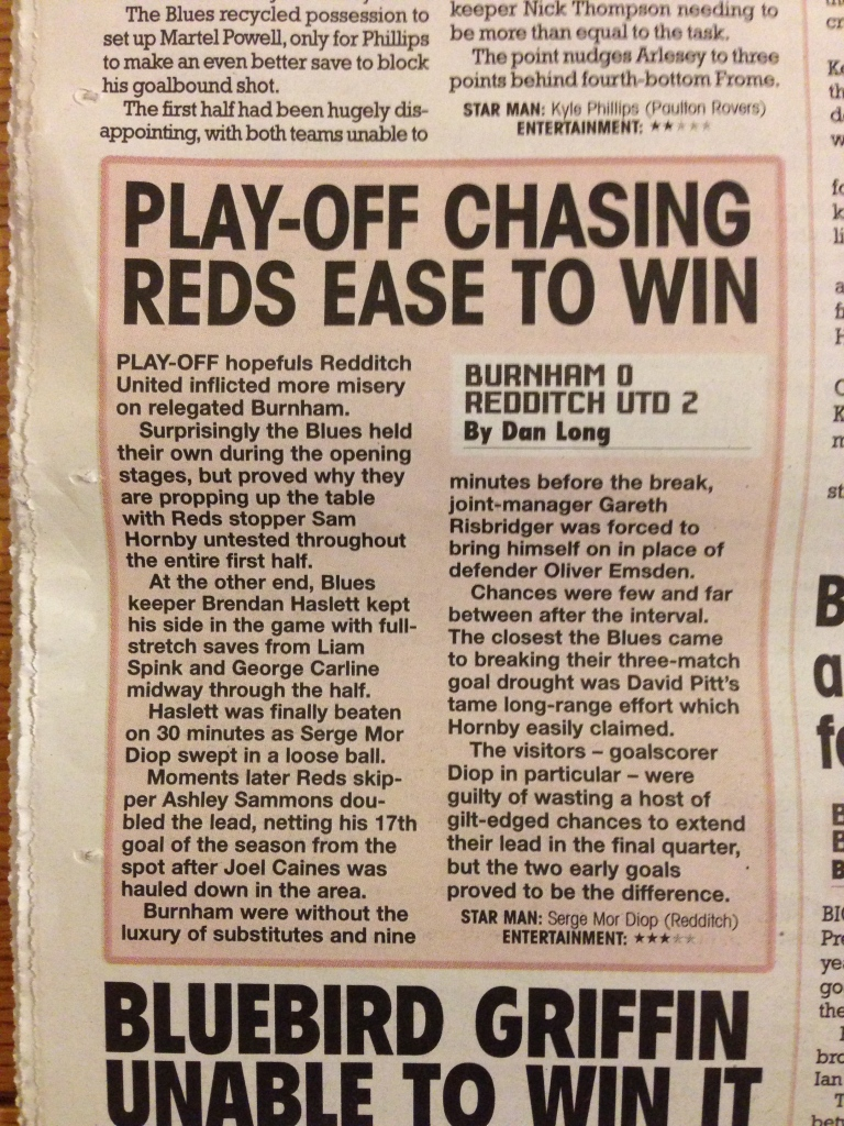 Evo-Stik Southern Premier League - Burnham vs Redditch United - Published Sunday 12th April 2015