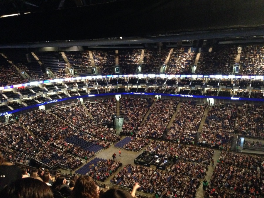 SPARSE: The O2 crowd was patchy leading up to the start.